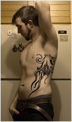 32 Cool Octopus Tattoo Design: Cute Octopus Tattoo Design For Men ~ lookmytattoo.com Tattoo Design Inspiration