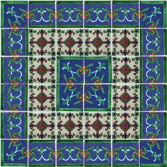 Decorative Mexican Tiles Alluring Decorative Mexican Tile Mural  Tiles  Pinterest  Tile Murals Design Ideas