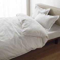 綿混サテンダマスク柄ピローケース同色2枚組 通販 【ニッセン】 布団カバー・ベッドカバー・敷きパッド 枕カバー
