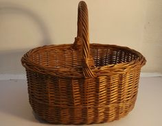Traditional Handmade Vintage Wicker  Basket