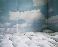 Cloud room. Great idea for relaxing or epic pillow fights!