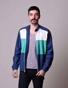 80s Mens Windbreaker  Vintage Colorblock Jacket  by NullifyAnew, $29.00