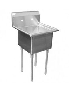 """Universal LJ1818-1 - 24"""" One Compartment Sink - NSF Certified"""