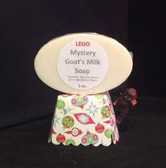 Our LEGO Mystery Goat's Milk Soap have one Lego mini figure inside, you never know what you are going to get! They make great stocking stuffers! $7 Limited supply. #legomystery #stockingstuffers