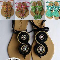 Crochet Flip Flops, Zipper Crafts, Boho Boutique, Crochet Shoes, Soutache Jewelry, Huaraches, Designer Shoes, Washer Necklace, Fashion Shoes