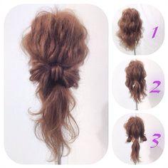 Hair Bow Ponytail