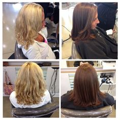 From summer blonde to chocolate brown  An amazing makeover by Brittany @andreashogue