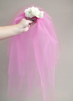 #weddingDIY ~ how to easily make a cheesy bachelorette party veil!