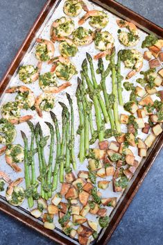 Chimichurri Shrimp, Asparagus & Potato Sheet Pan Meal - Living Loving Paleo