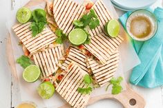 Cheesy chicken and lime quesadillas - A simple and easy quesadillas that takes 20 minutes to make and will have the whole family wanting more.