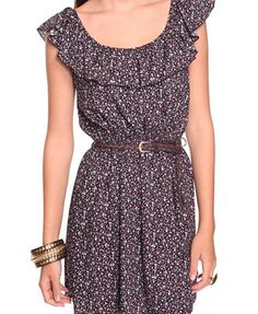 The Floral Purple Dress