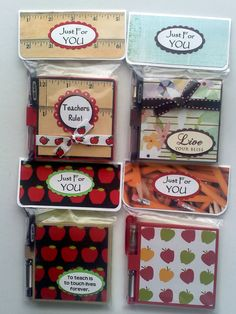 Post it note holders and pens.  Lots of craft fair ideas on this blog