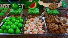 Minecraft food perler beads -  minecraft food pattern - minecraft birthday party - minecraft crafts - minecraft cake table