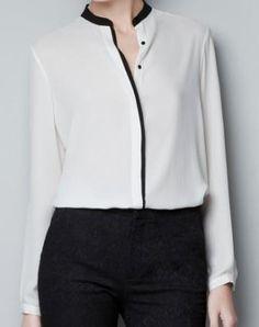 Рубашка с прямым воротником выкройка