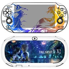 Premium Skin Decals Stickers For PlayStation VITA Original 1st Generation PCH1000 Series Consoles  POP SKIN Final Fantasy X  X2 05  Free Gift Screen Protector Film  Wallpaper Screen Image -- For more information, visit image link.