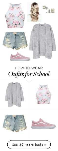 """School in 2 weeks"" by freebirdy on Polyvore featuring MANGO, Hollister Co. and Vans"