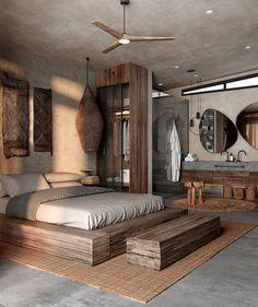 Master Bedroom Design, Home Bedroom, Modern Bedroom, Bedroom Decor, Bali Bedroom, Bedrooms, Bedroom Ideas, Modern Interior Design, Interior Architecture