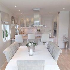Top Home Interior Design Kitchen Room Design, Dining Room Design, Home Decor Kitchen, Kitchen Living, Kitchen Interior, Home Interior Design, Home Kitchens, Dining Rooms, Dining Table