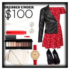 """DressUnder$100♡"" by annadeiman ❤ liked on Polyvore featuring Miss Selfridge, Giuseppe Zanotti, H&M, MAC Cosmetics, AK Anne Klein and Full Tilt"