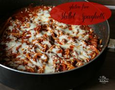 Gluten-free Skillet Spaghetti - One dish meal - Cook and serve all in one skillet for easy clean-up!