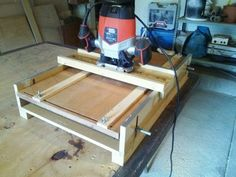 The thickness plainer jig.