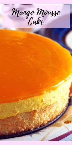 Mango Mousse Cake – Woman Scribbles Need a real mango treat? This Mango Mousse Cake is a decadent cake made of a moist sponge cake topped with a creamy mango mousse, then finished with a sweet mango gel topping. This is your serious mango craving fix! Mango Dessert Recipes, Mango Recipes, Easy Desserts, Sweet Recipes, Filipino Desserts, Gourmet Desserts, Juice Recipes, Mango Mousse Cake, Mango Cheesecake