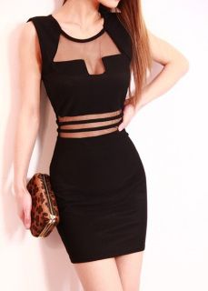 """""""Breakout"""" Straight cut mini dress with cut out mid riff and chest area. sookieandsmith.com"""