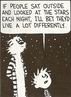 Calvin & Hobbes look at the stars. -D