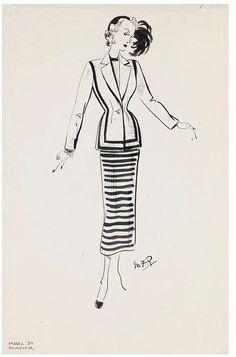 Fashion design, by Marjorie Field for Matita, London, England, 1945-48. Victoria & Albert Museum.