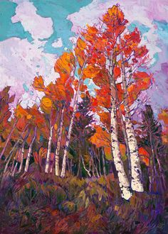 The Erin Hanson Gallery expresses her love for the outdoors through gorgeous impressionist-style paintings.