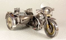 Made from old watch parts.
