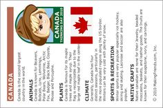 MakingFriends Facts about Canada Printable Thinking Day fact card for our passports. Perfect if you chose Canada for your Girl Scout Thinking Day or International Night celebration. Girl Scout Swap, Girl Scout Leader, Girl Scout Troop, Facts About Canada, Canada Day Crafts, Gs World, Brownie Badges, Girl Scout Activities, World Thinking Day