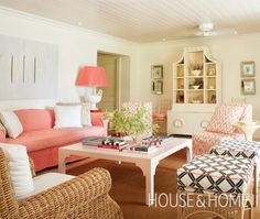 Beachy Living Room | Photo Gallery: Warm-Weather Vacation Homes | House & Home | Photo by Virginia Macdonald
