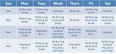 Hip Hop Abs Schedule