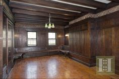 century old Brooklyn mansion - The huge public rooms are clad in rare wood, according to the Halstead Property listing.