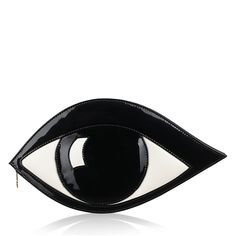 Black Patent Leather Eye Clutch