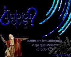 #SabiasQue #Aaron era tres años más grande que #Moises - #Exodo 7:7