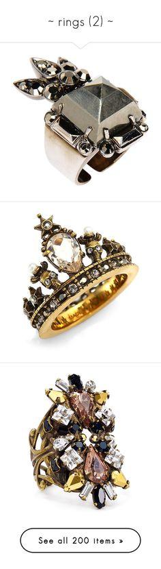 """~ rings (2) ~"" by elsakurppa ❤ liked on Polyvore featuring jewelry, rings, silver, rhinestone rings, roberto cavalli ring, roberto cavalli, roberto cavalli jewelry, rhinestone jewelry, gold and alexander mcqueen"