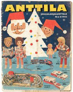 Anttilan tavaraluettelo joululta 1962. Old Commercials, Good Old Times, Magazine Articles, Old Ads, Finland, Album Covers, Emoji, Retro Vintage, Nostalgia