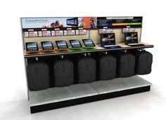 Mobile computer interactive merchandising display for retail