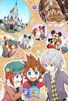 If Sora, Kairi, and Riku went to Disneyland...this is hilarious! And quite accurate, I think.
