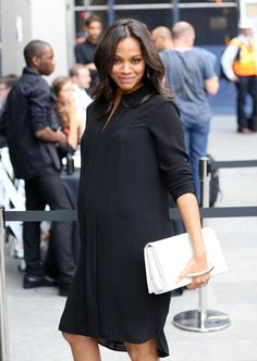 Zoe Saldana's Maternity Style - ideas to copy her look on the blog!