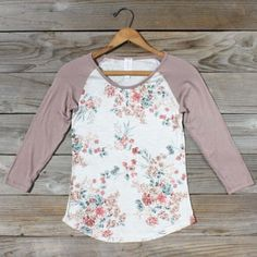 Floral baseball tee - I love the look of baseball tees, and this is such a pretty take on that!