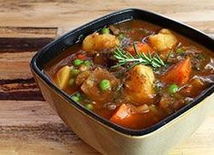 Vegan Beefless Stew from Dr. McDougall, also a sweet potato pie that looks great