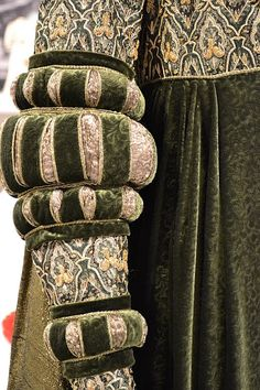 Sleeve detail - movie costume Venetian Gown style of 1490s