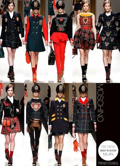 MOSCHINO black and red inspiration