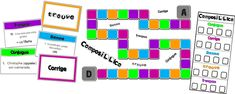 Cycle 3, School Classroom, Activities For Kids, Language, Games, Logo, French Tips, Simple Past Tense, Board Games