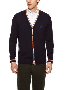Fred Perry Tipped Cardigan Skinhead Fashion, Dapper Day, Boyfriend Style, Mod Fashion, Got The Look, Fred Perry, Fashion Today, Clothes Horse, Men's Apparel