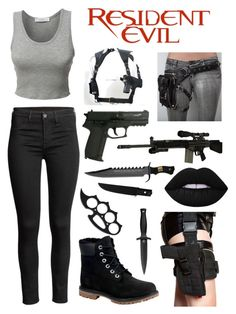 """""""Me in Resident Evil"""" by kain-loves-shawn ❤ liked on Polyvore featuring LE3NO, Timberland, RIFLE and H.R. Warrior Outfit, Badass Outfit, Bad Girl Outfits, Outfits For Teens, Spy Outfit, Apocalyptic Clothing, Movie Inspired Outfits, Super Hero Outfits, Leder Outfits"""