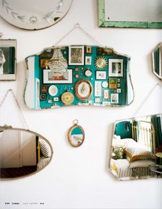 Moon to Moon: Mirror Magic..... Ways to encorprate mirros into your home